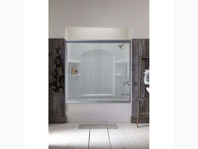 Finesse Peak 174 Frameless Sliding Bath Door 56 5 8 Quot 59 5 8
