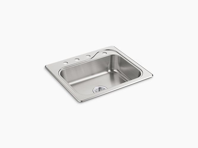 Southhaven Single Basin Kitchen Sink 25 X 22 X 6 1 2 F11403 4 Na Sterling