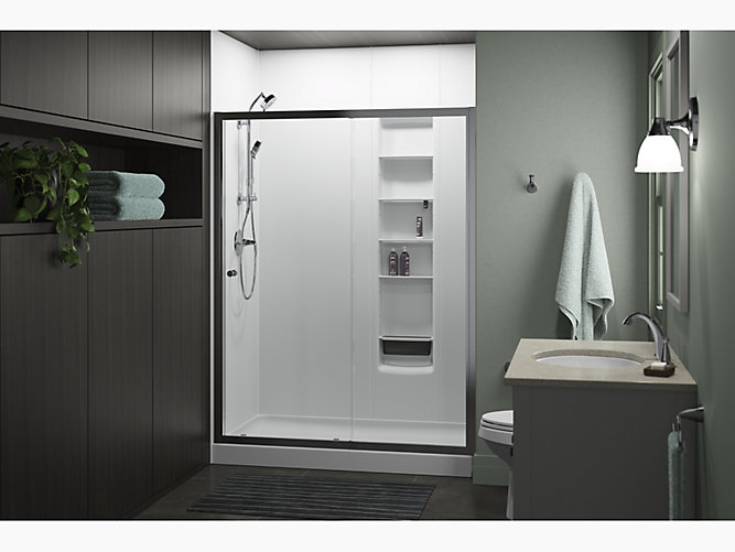 Whiston 174 Frameless Sliding Shower Door 60 Quot X 74 7 8