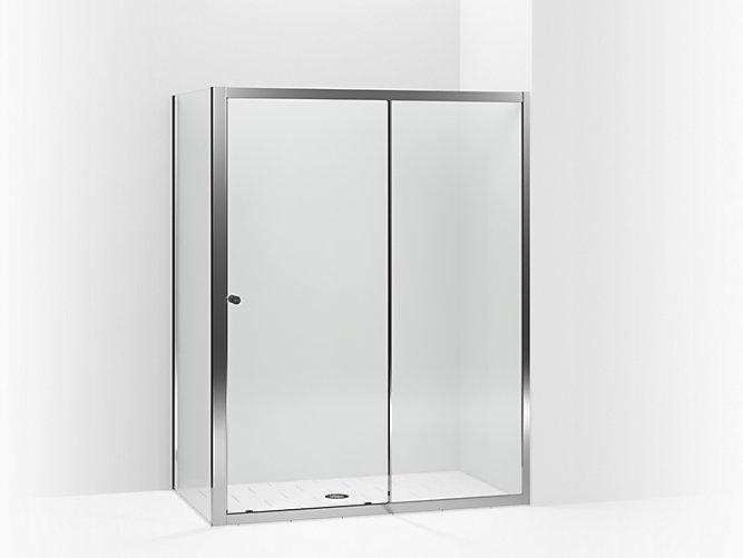 Whiston 174 Frameless Sliding Shower Door With Return Panel