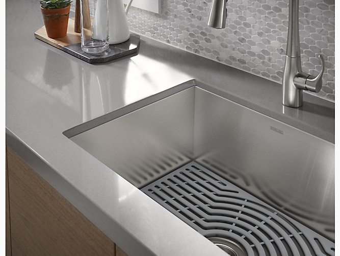 Ludington 174 Silicone Sink Mats 20285 Ash Sterling