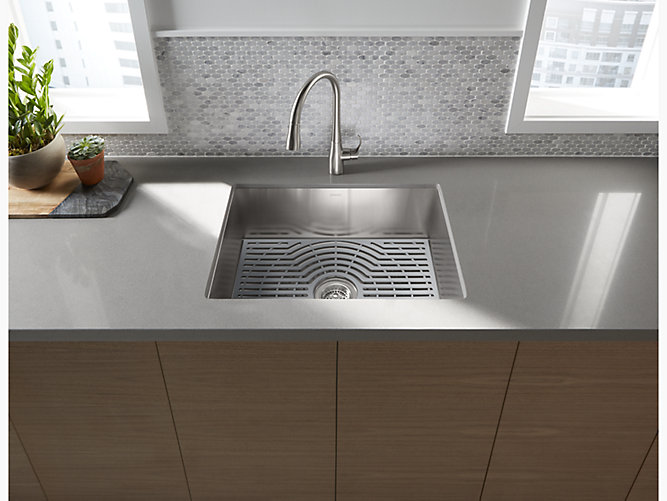 Ludington 24 X 18 5 16 X 9 7 16 Undermount Single Bowl Kitchen Sink With Accessories 20023 Pc Na Ludington Undermount Single Bowl Kitchen Sink With Accessories 20026 Pc Sterling