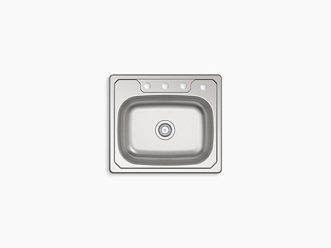 Kitchen Sink 25 X 22 Middleton top mount single bowl kitchen sink 25 x 22 x 6 14631 mcallister top mount single bowl kitchen sink 25 x 22 workwithnaturefo