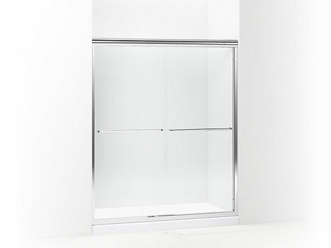 Finesse Quick Install Frameless Sliding Shower Door 56