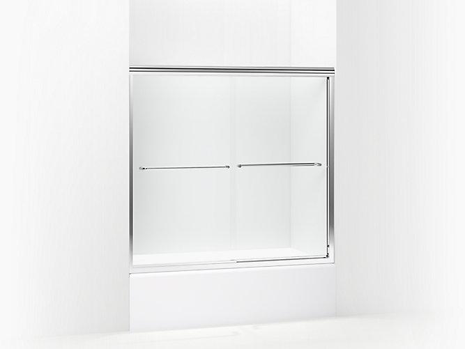 Finesse Frameless Sliding Bath Door 52\
