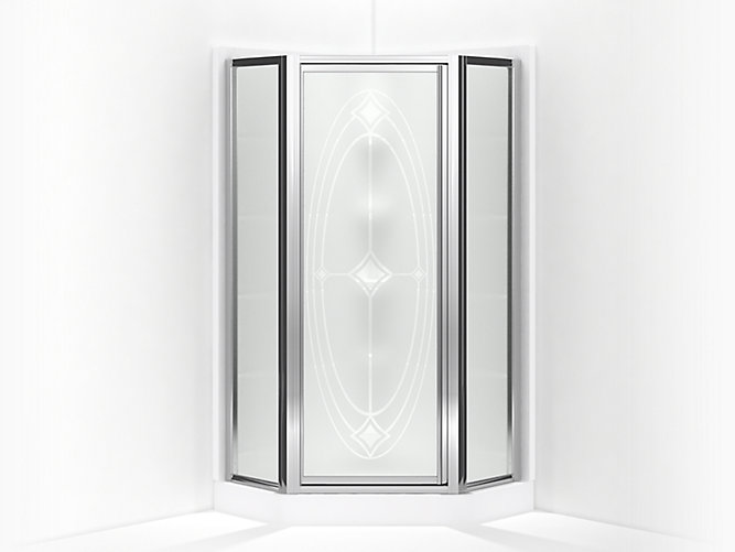Intrigue Framed Neo Angle Corner Shower Door 15 13 16 Quot X