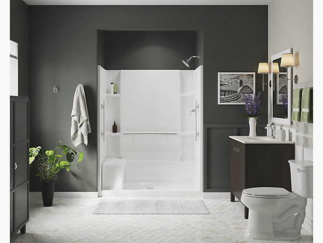 Accord 174 60 Quot Seated Shower With Aging In Place Grab Bars