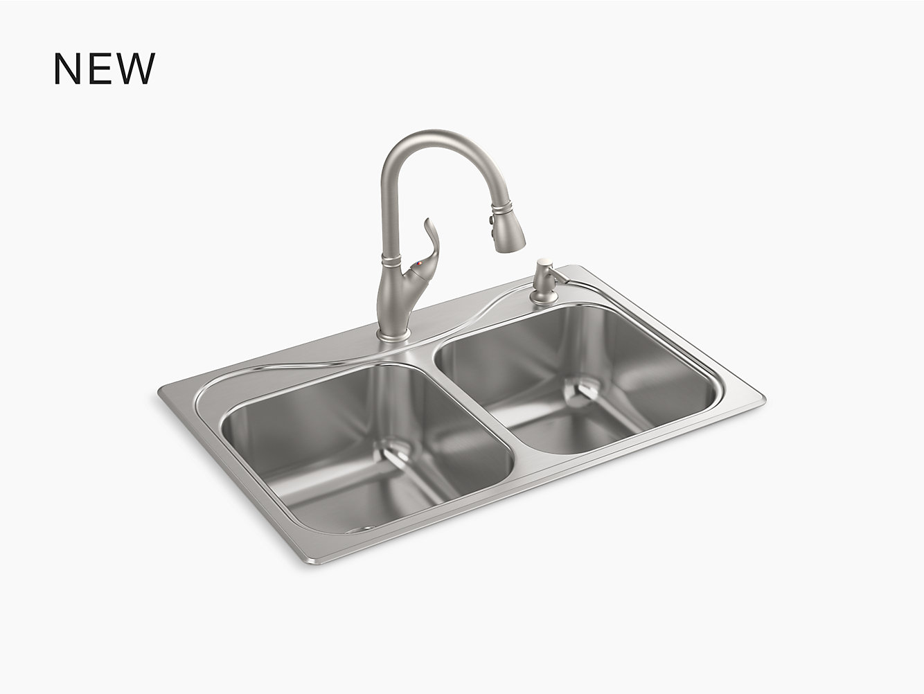 Southhaven All In One 33 X 22 X 8 1 2 Top Mount Kitchen Sink Kit R30230 2pc Na Southhaven All In One Top Mount Kitchen Sink Kit R30230 2pc Sterling