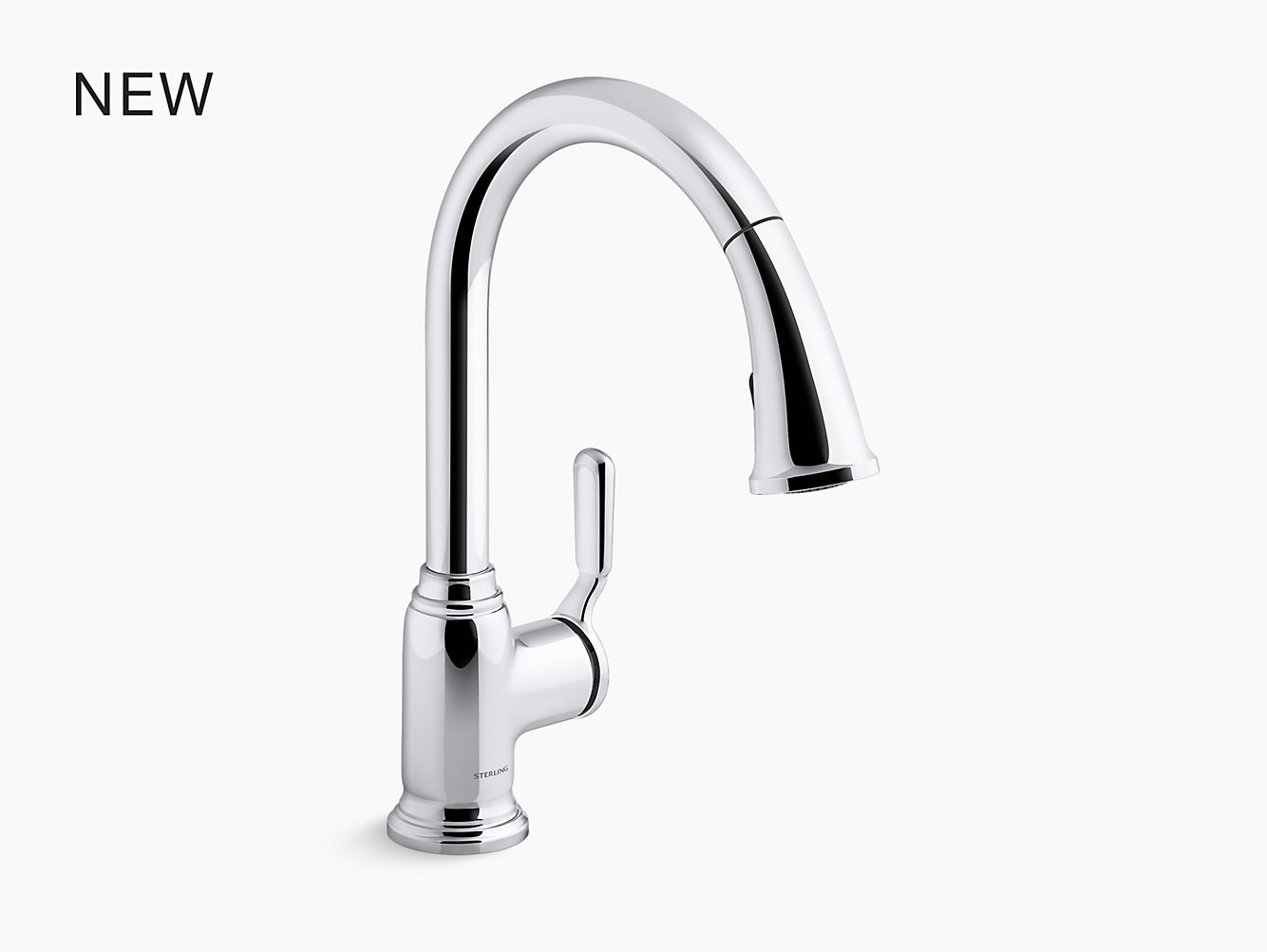 Ludington Pull Down Single Handle Kitchen Faucet 24272 Cp Pull Down Single Handle Kitchen Faucet 24272 Sterling