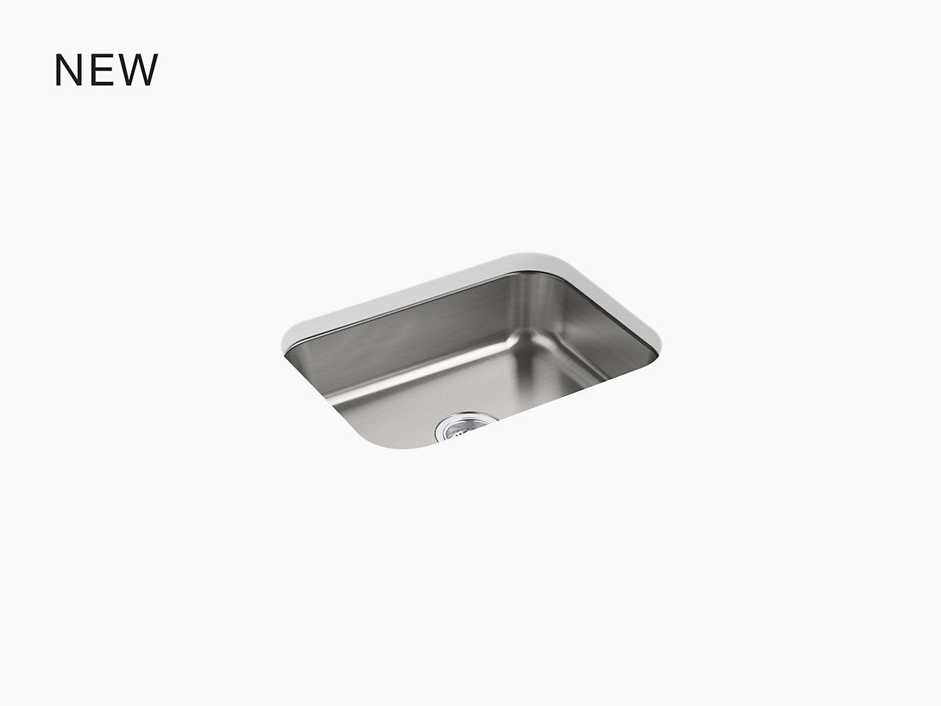 McAllister Under-Mount Single-Bowl Kitchen Sink, 23-3/8\