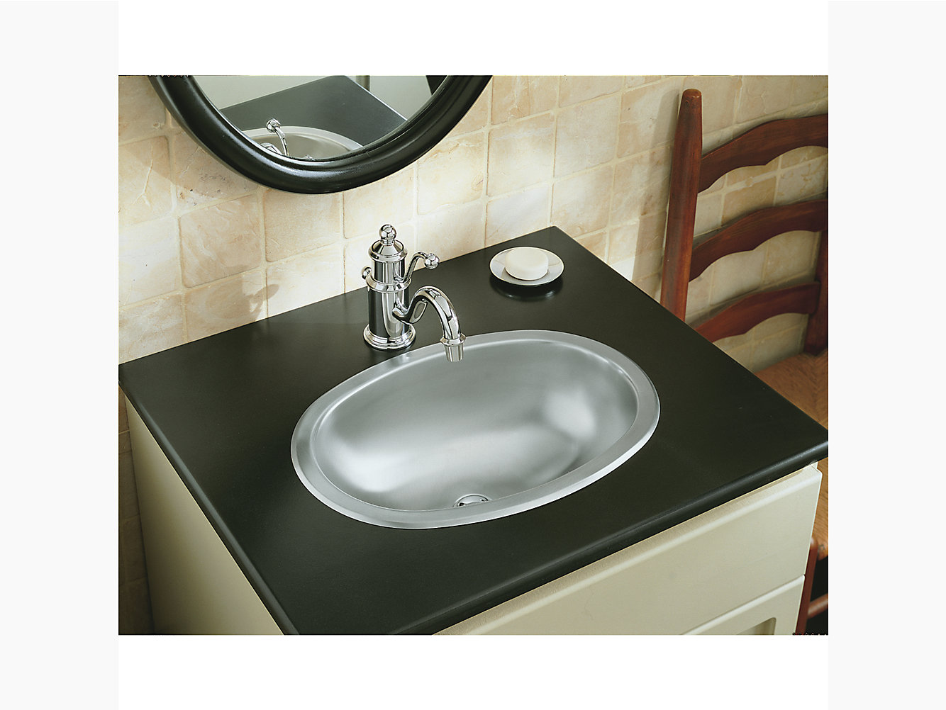 Oval Drop In Under Mount Bathroom Sink, Drop In Oval Bathroom Sinks