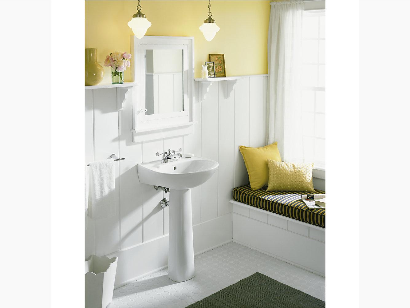 Sacramento Pedestal Bathroom Sink 442124 Sterling