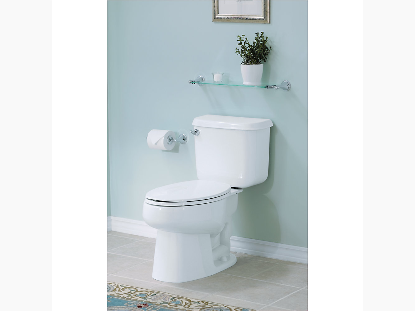 Windham Comfort Height ADA Elongated Toilet With Pro Force ...