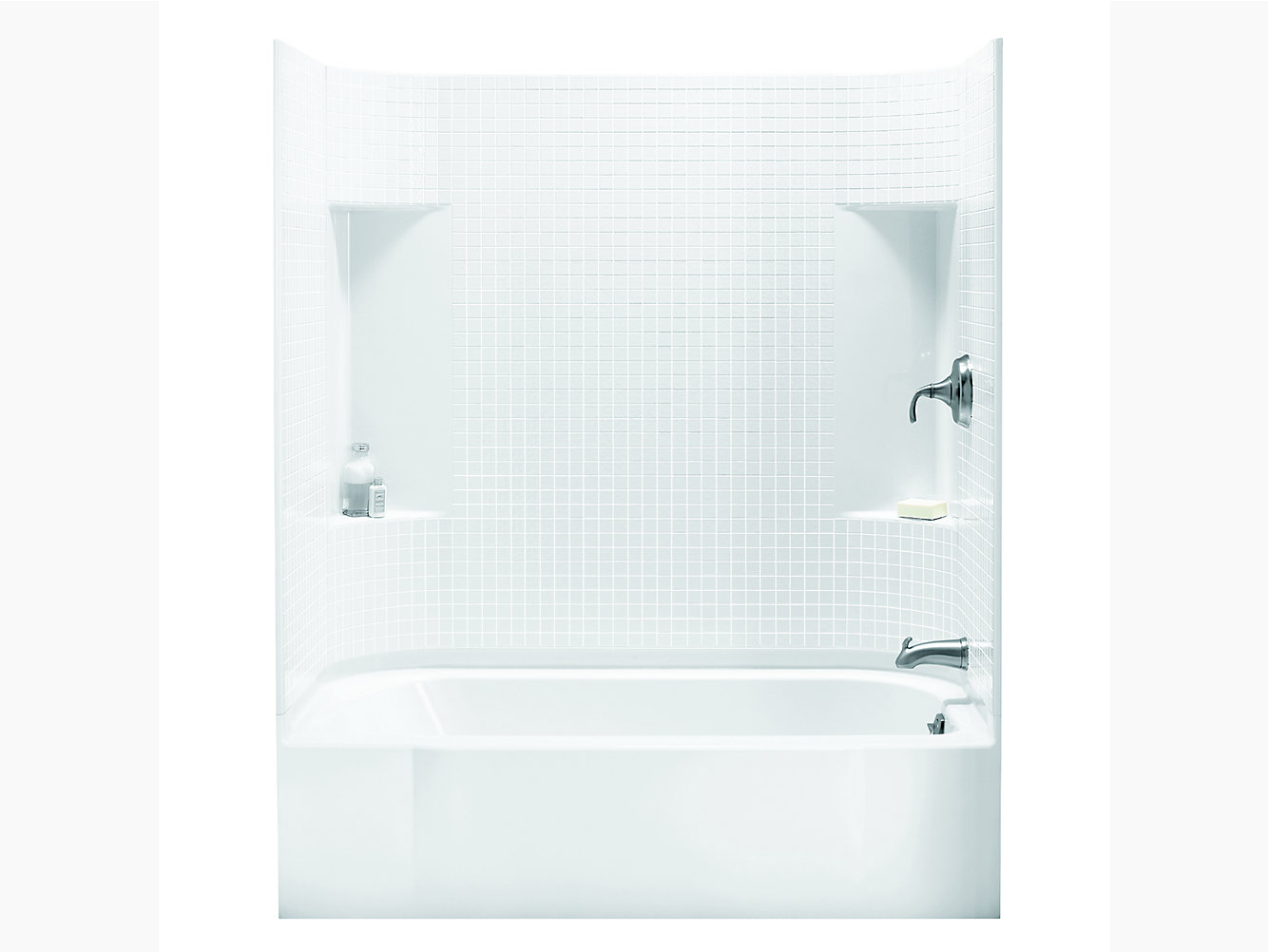 "Accord Series 7114, 60"" x 30"" Bath/Shower With Above-Floor Drain ..."