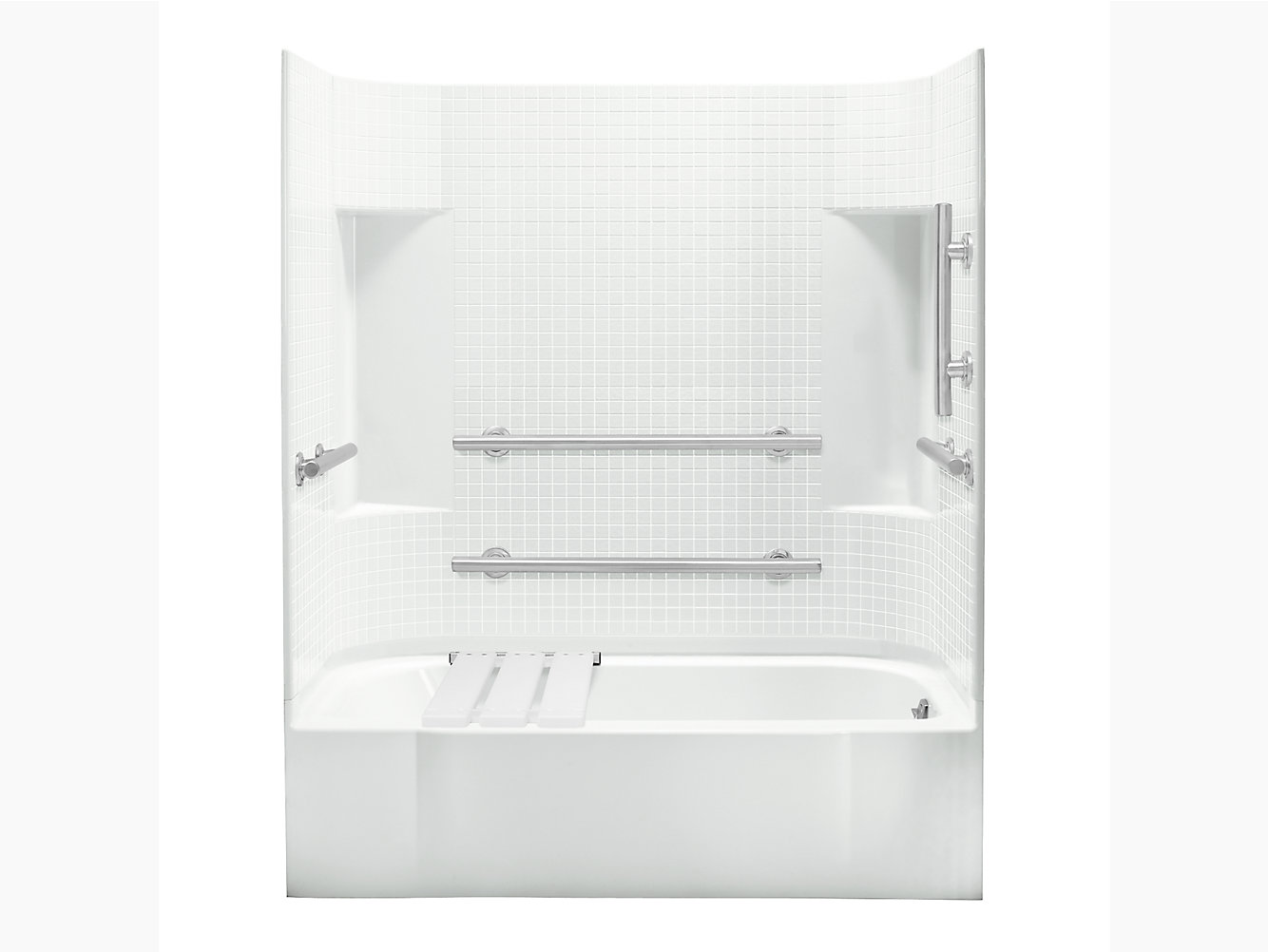 """Accord Series 7114, 60"""" x 30"""" ADA Bath/Shower With Grab Bars and ..."""