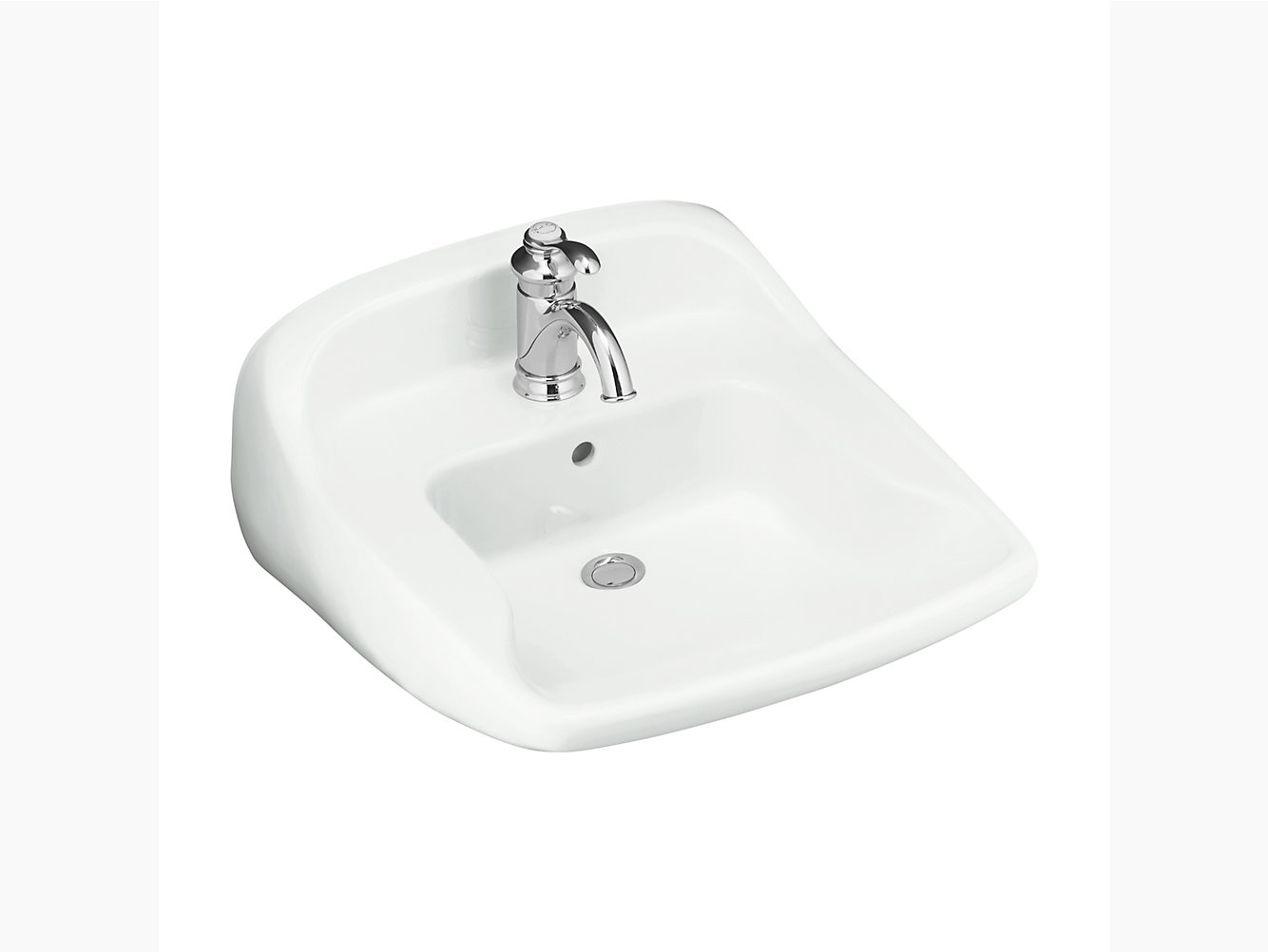 worthington wall mount bathroom sink 442031 sterling - Wall Mount Bathroom Sink