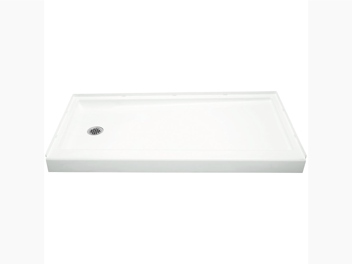 drain product standard plumbing supply x hand memoirs kohler threshold double shower white left k base