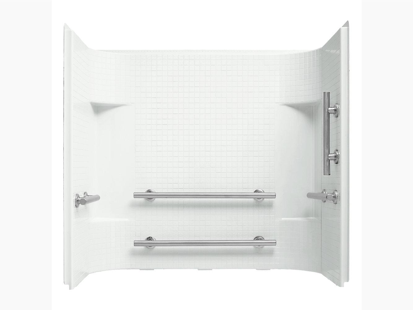 "Accord Series 7114, 60"" x 30"" Wall Set With Grab Bars | 71144123 ..."