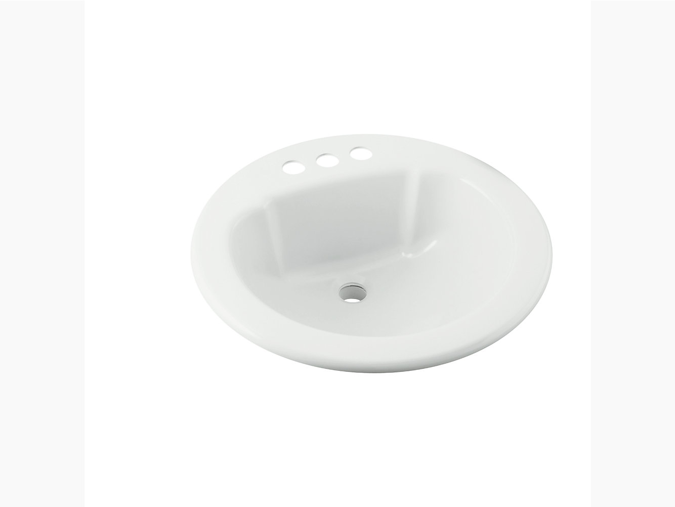 Round Lavatory X STERLING - Black drop in bathroom sink
