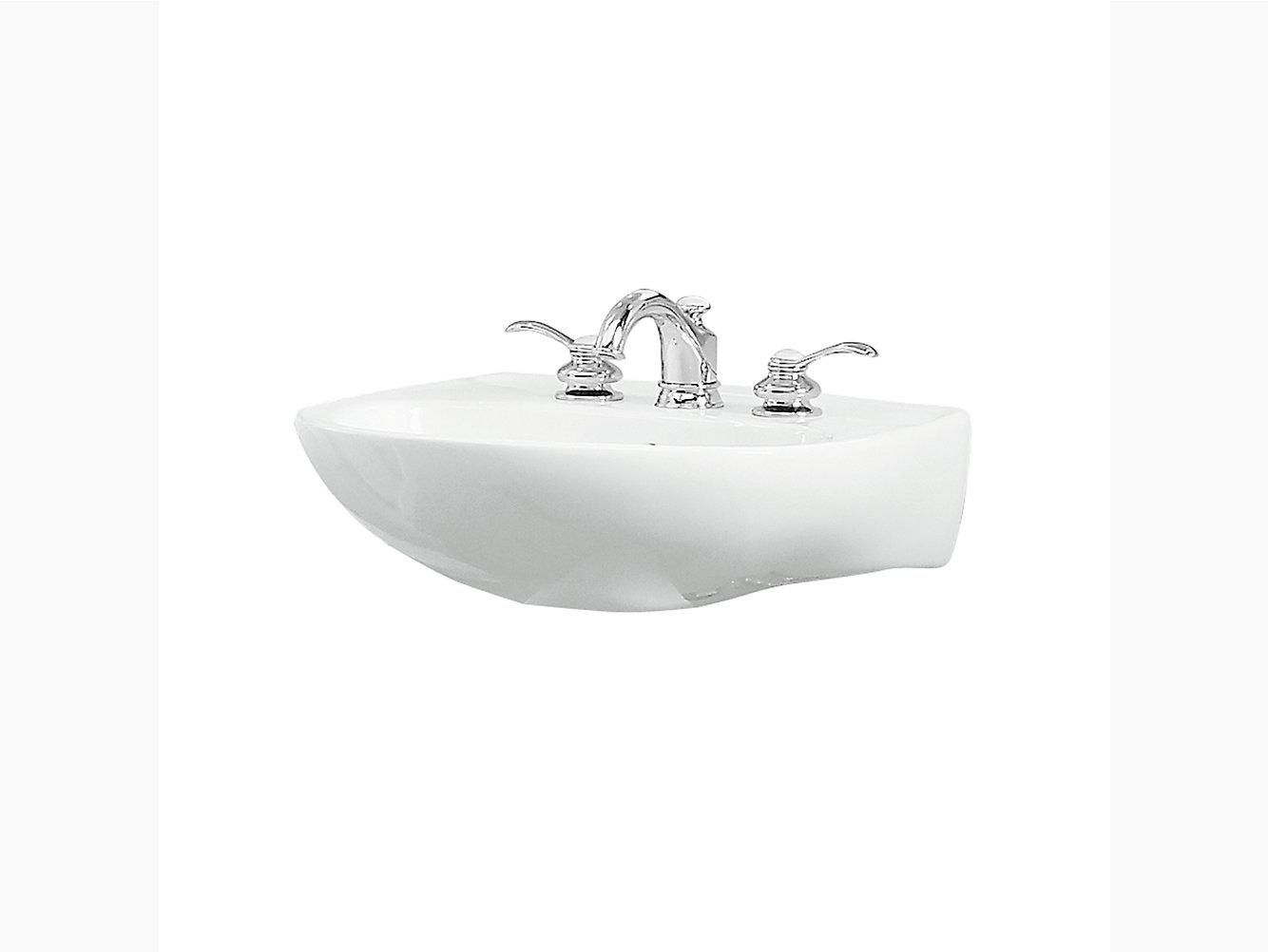 Sacramento Pedestal Top Wall Mount Bathroom Sink 446128 Sterling