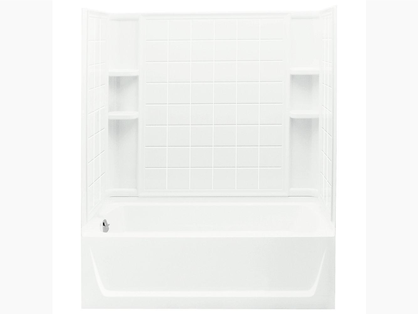 Ensemble Series 7112 60 X 32 74 Tile Bath Shower Left Hand Drain 71120170 Sterling