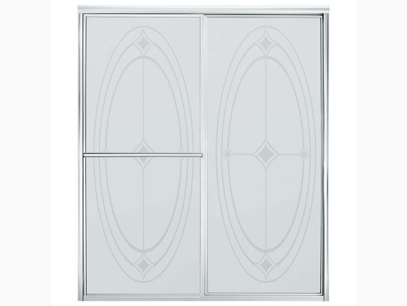 Deluxe Framed Sliding Shower Door 54-3/8\
