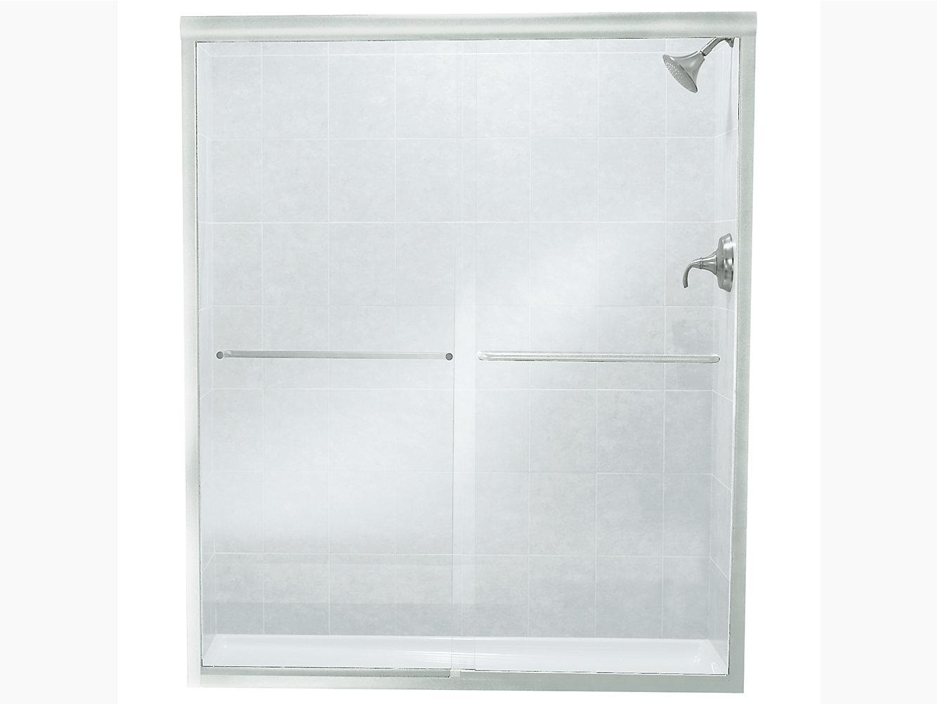 Finesse Frameless Sliding Shower Door 5257 W X 70 116 H