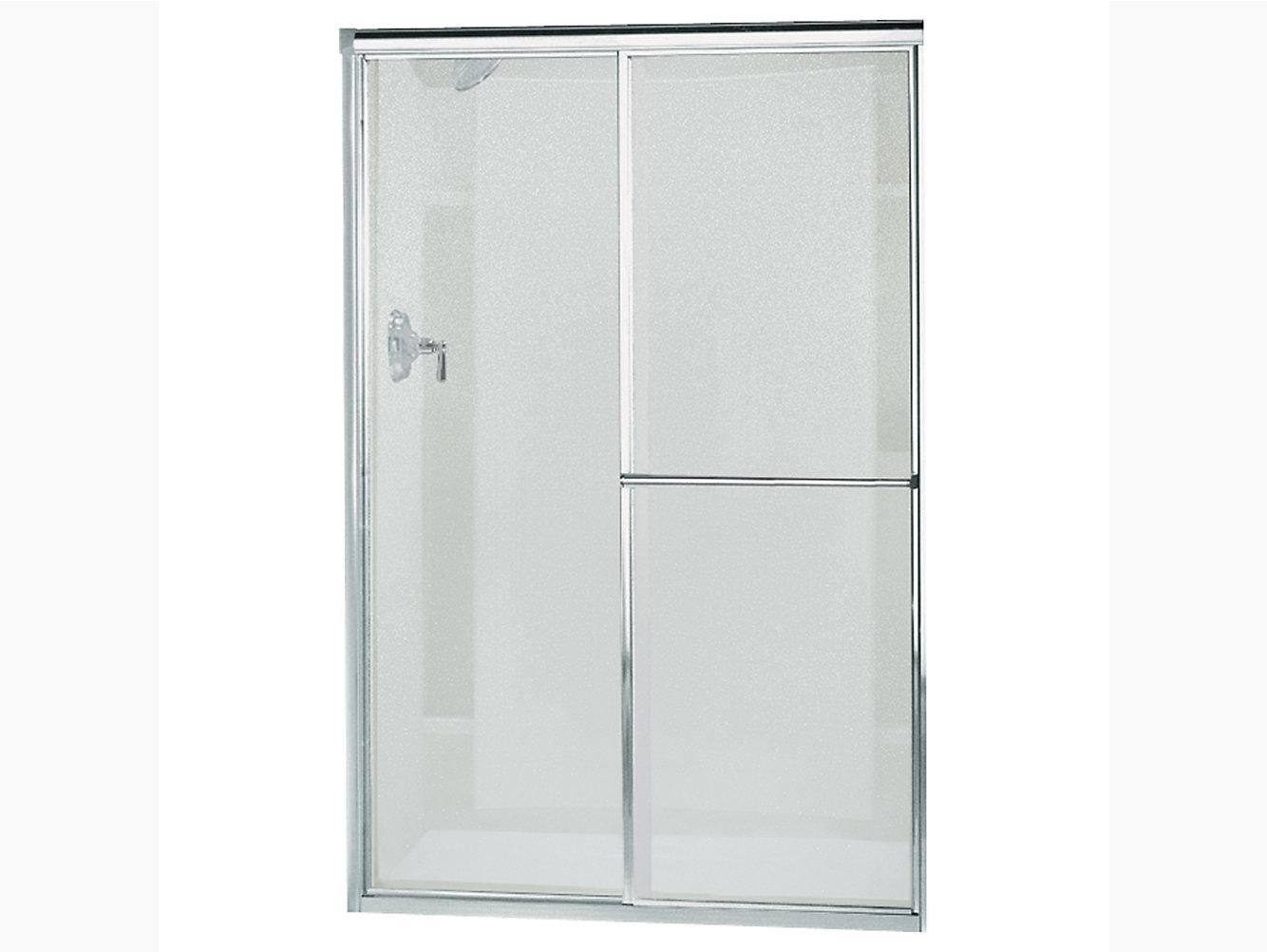 Deluxe Framed Sliding Shower Door 37 1242 12 W X 65 12 H