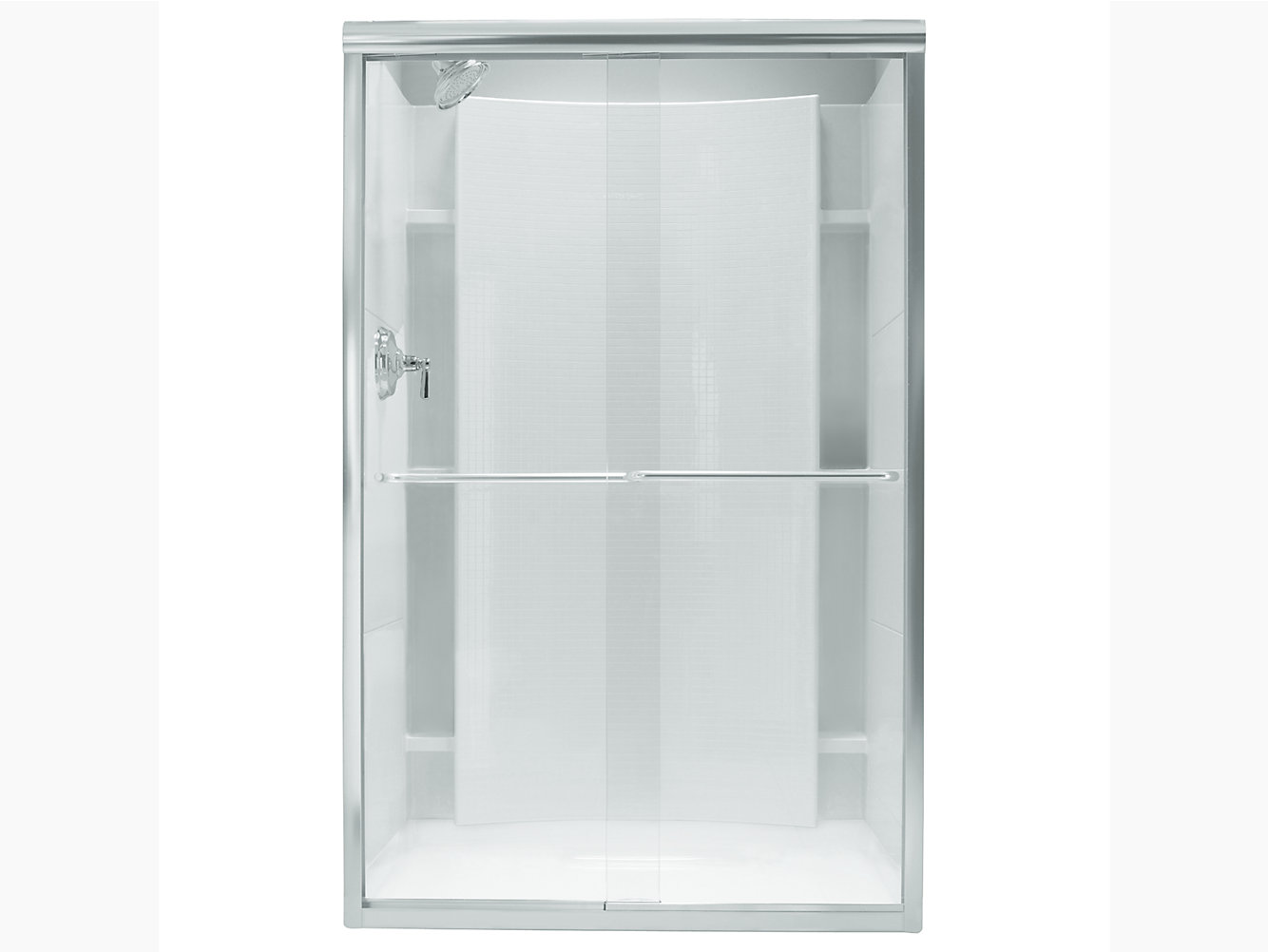 Finesse Frameless Sliding Shower Door 45 3848 W X 65 12 H