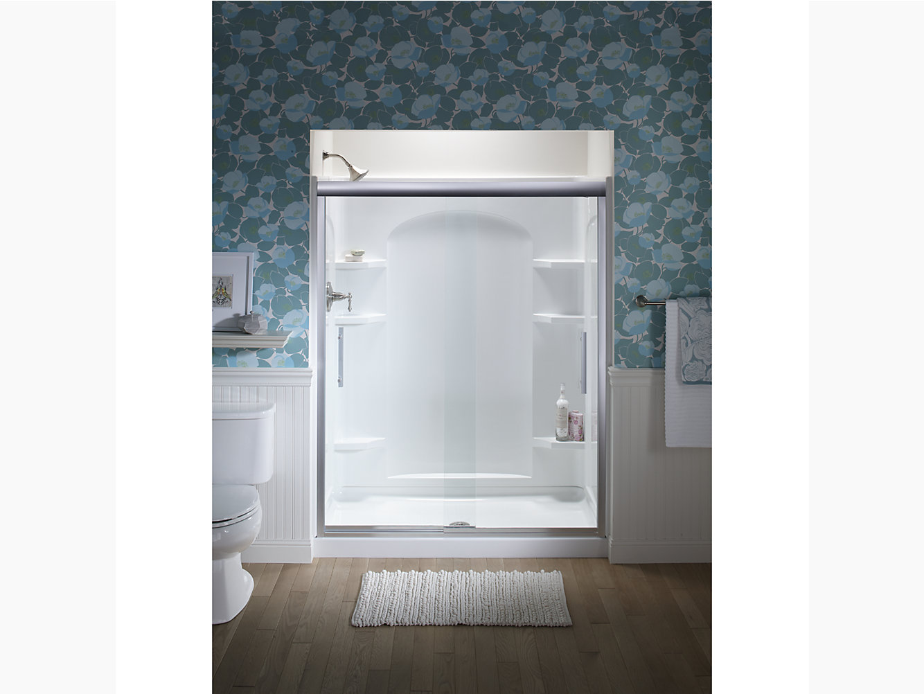 Finesse Peak Frameless Sliding Shower Door 56 5859 58 W X 70 1