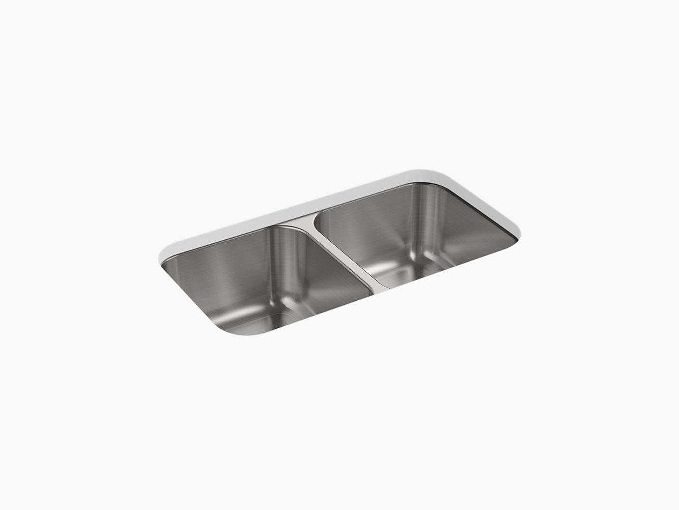 McAllister® Under-Mount Double-Equal Kitchen Sink, 32