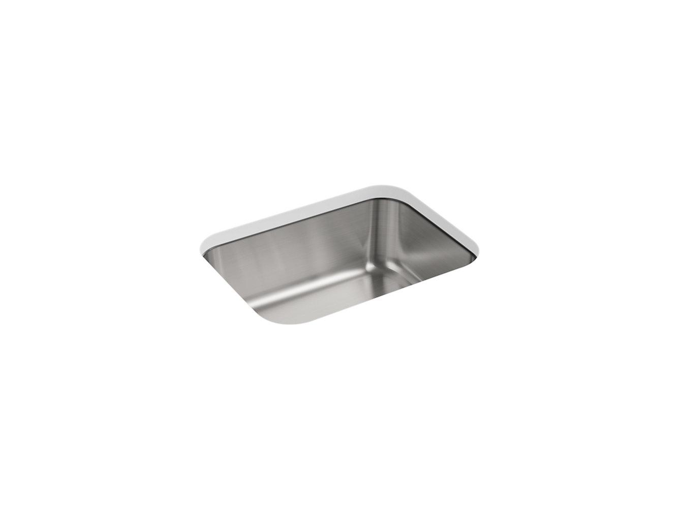 Mcallister Under Mount Single Bowl Kitchen Sink 23 3 8 X 17 11 16 11447 Na Sterling