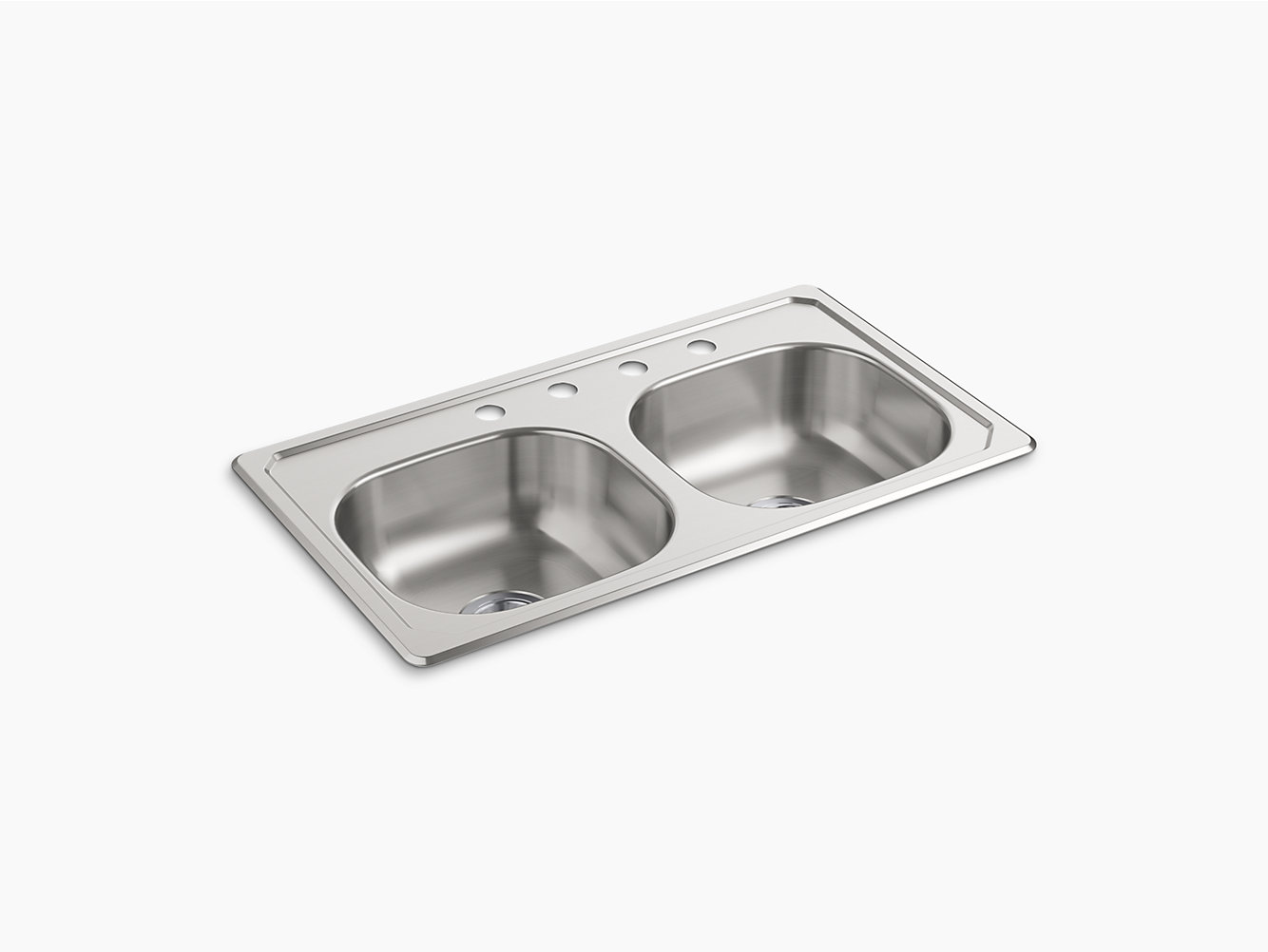 Top-Mount Double-Bowl Kitchen Sink, 33\