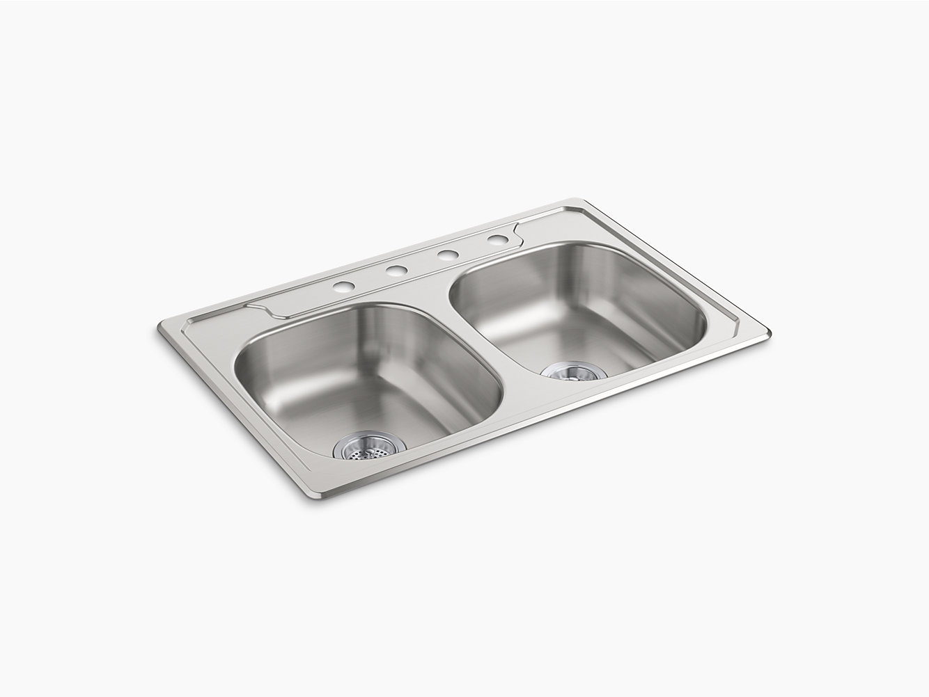 Double Bowl Kitchen Sinks Middleton top mount double bowl kitchen sink 33 x 22 x 6 14633 middleton top mount double bowl kitchen sink 33 x 22 x 6 14633 4f na sterling workwithnaturefo