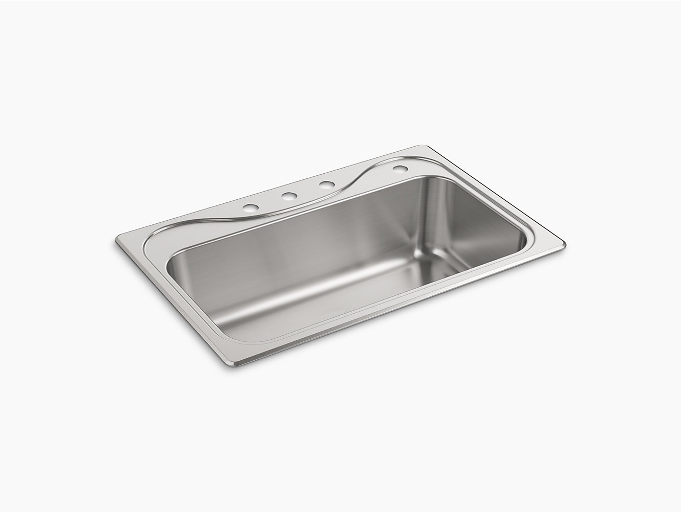 "Southhaven® Top-Mount Single-Bowl Kitchen Sink, 33"" x 22"" x 9-1/4"" | 37047-4-NA | STERLING"
