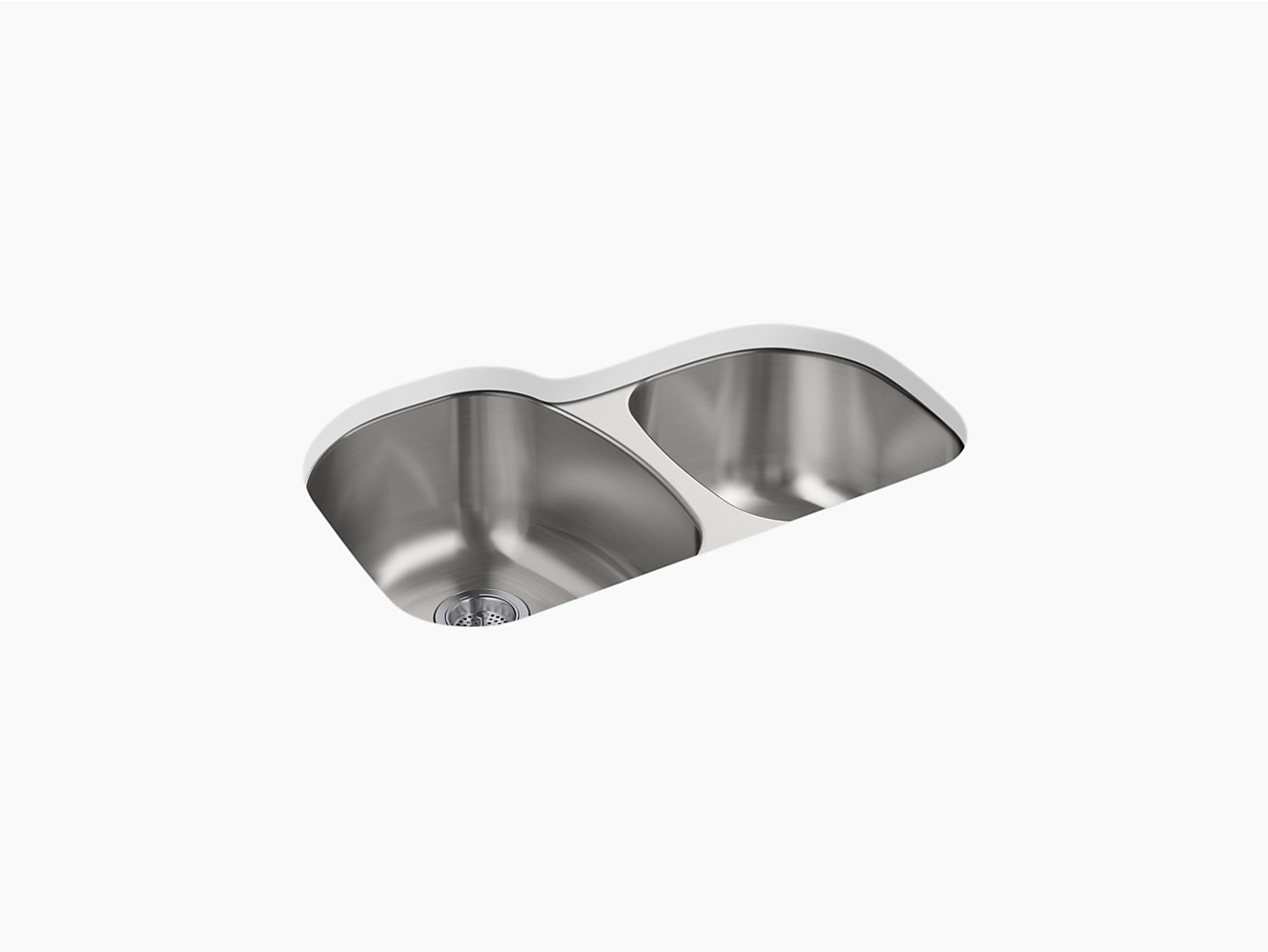 Cinch Under-Mount Large/Small Kitchen Sink, 31-1/2\