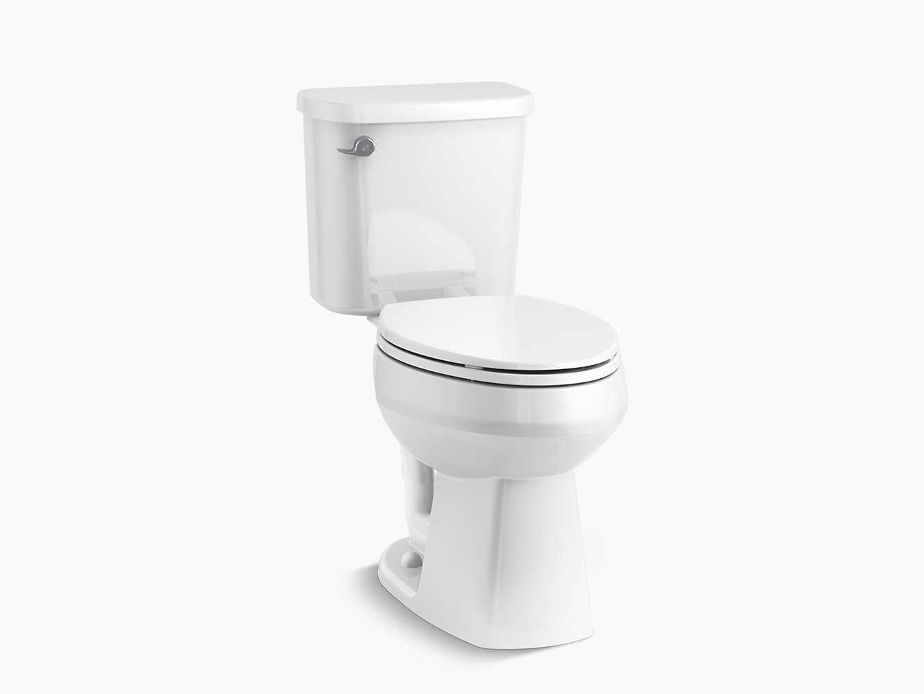 Windham Comfort Height Elongated All In One Toilet With Proforce Technology And Left Hand Trip Lever 404705 Sterling