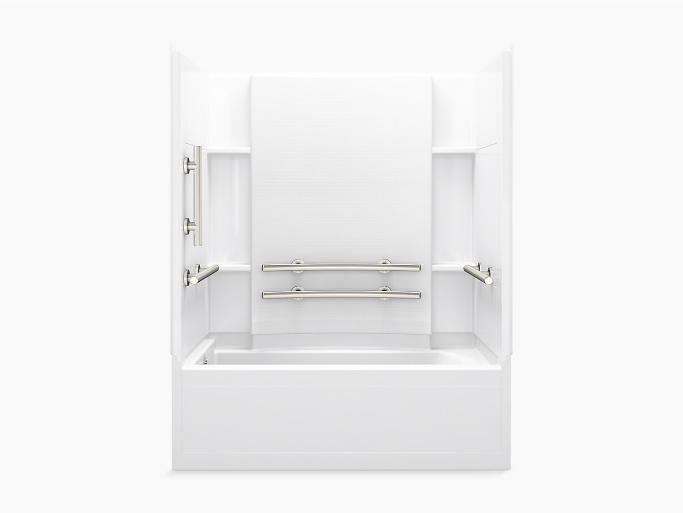 "Accord Series 7115, 60"" x 32"" ADA Bath/Shower With Grab Bars and ..."