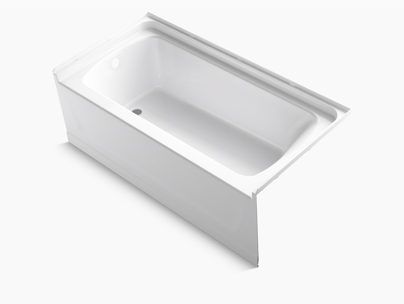 "Ensemble Medley Series 7117, 60"" x 30"" Bath With Above-Floor Drain ..."
