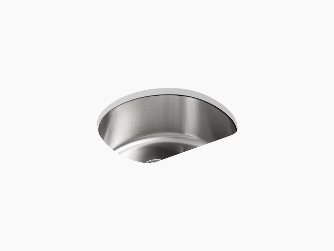 McAllister Under-Mount Single-Bowl Kitchen Sink, 23-5/8\