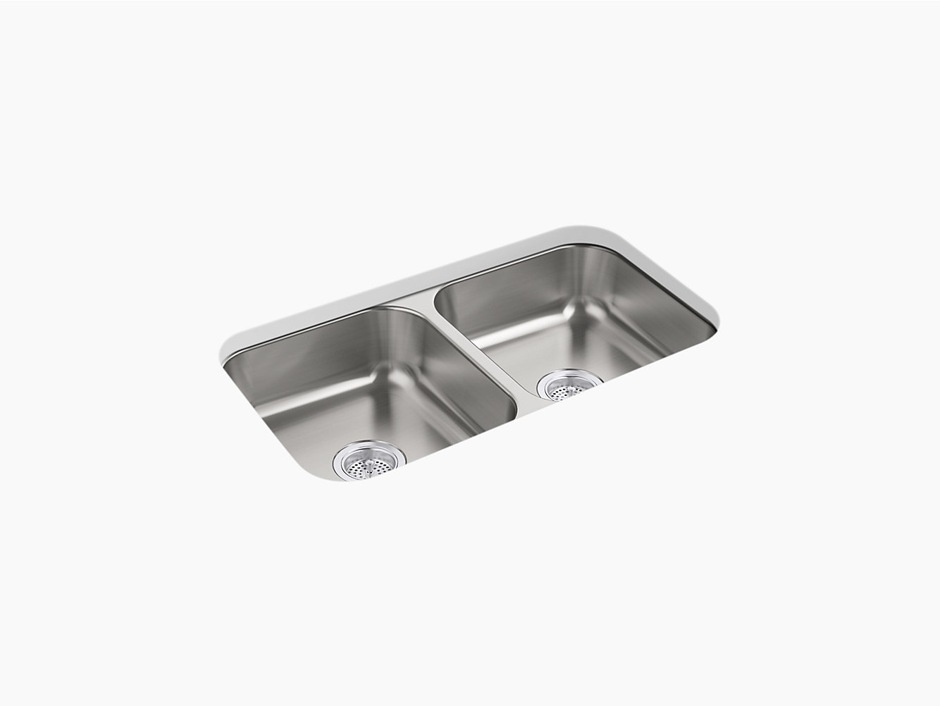 McAllister Under-Mount Double-Equal Kitchen Sink, 31-15/16\