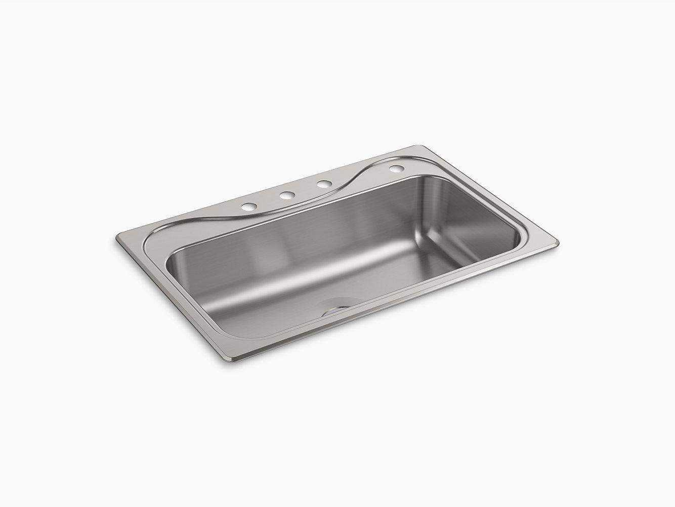 Southhaven Top-Mount Single-Bowl Kitchen Sink, 33\