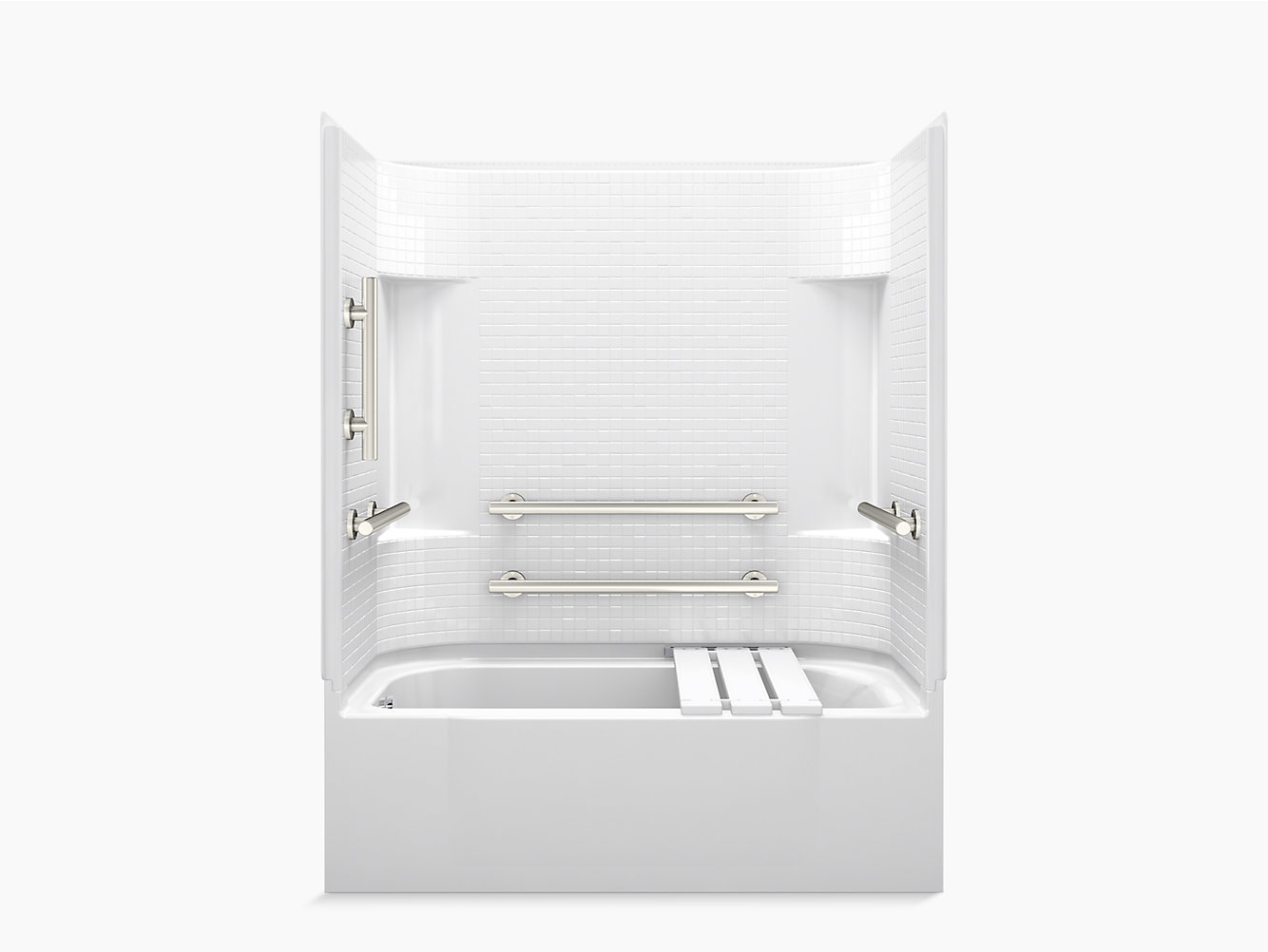 "Accord Series 7114, 60"" x 30"" ADA Bath/Shower With Grab Bars and ..."