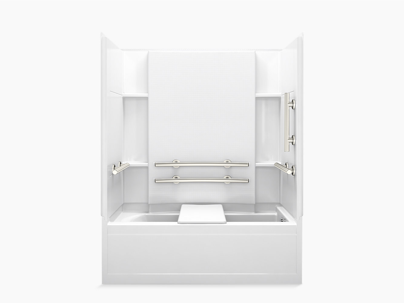 """Accord Series 7115, 60"""" x 32"""" ADA Bath/Shower With Grab Bars and ..."""