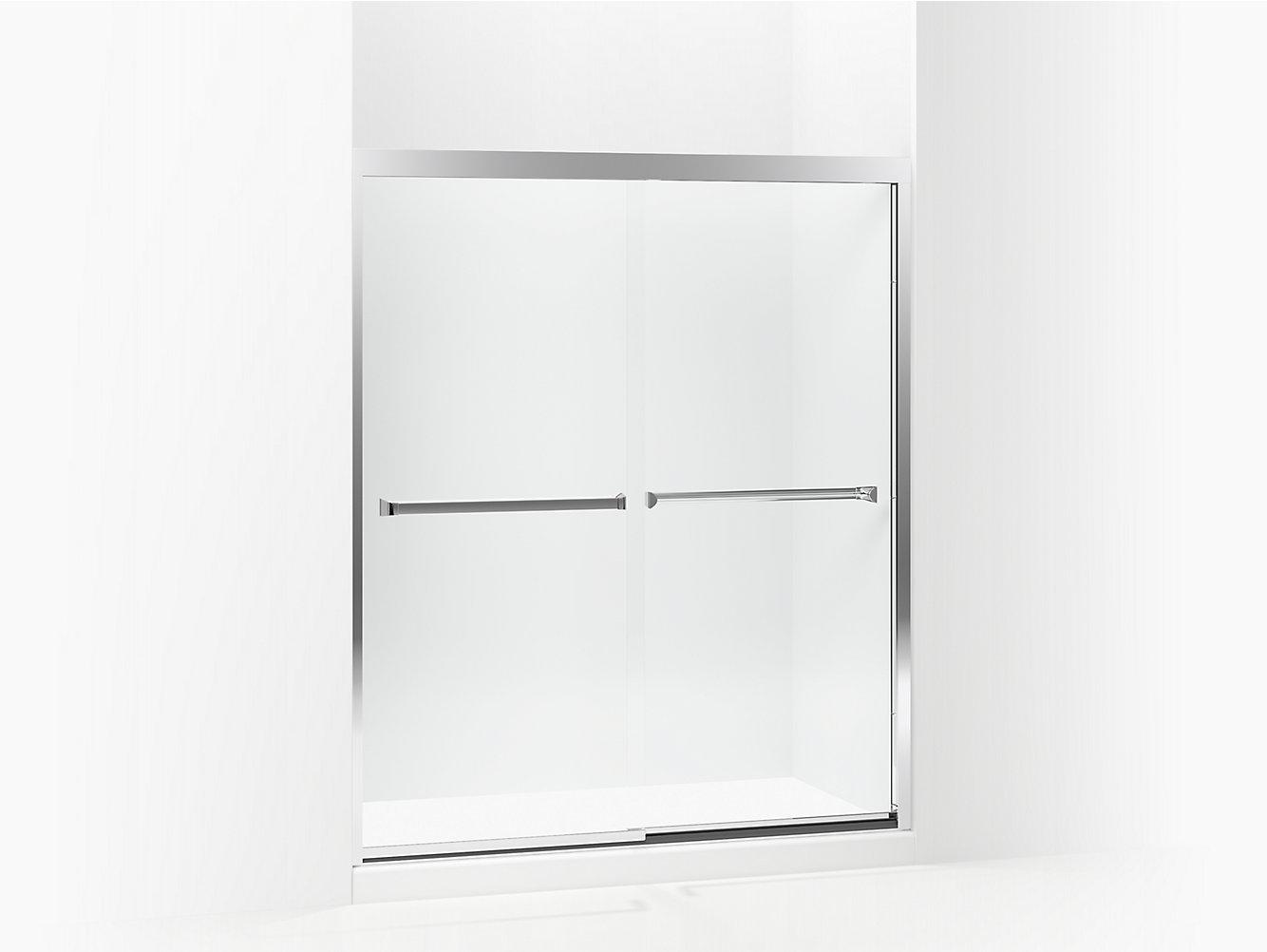 Meritor Frameless Sliding Shower Door 581075 59s G05 Sterling