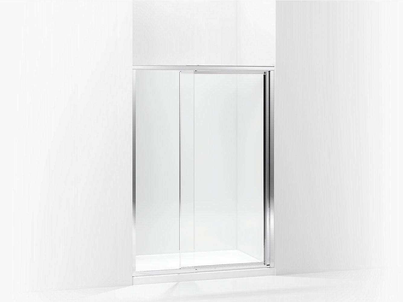 Vista Pivot Framed Swinging Shower Door 4248 W X 65 12 H