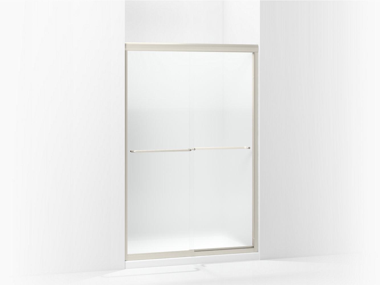 Finesse Frameless Sliding Shower Door 5485 48n G69 Sterling
