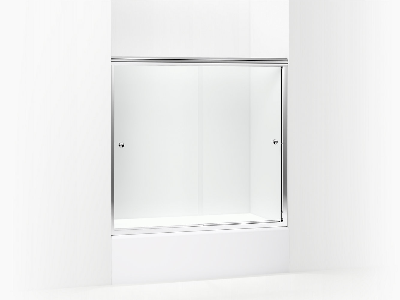 Finesse Frameless Sliding Door With Knob Height 55 12 Max