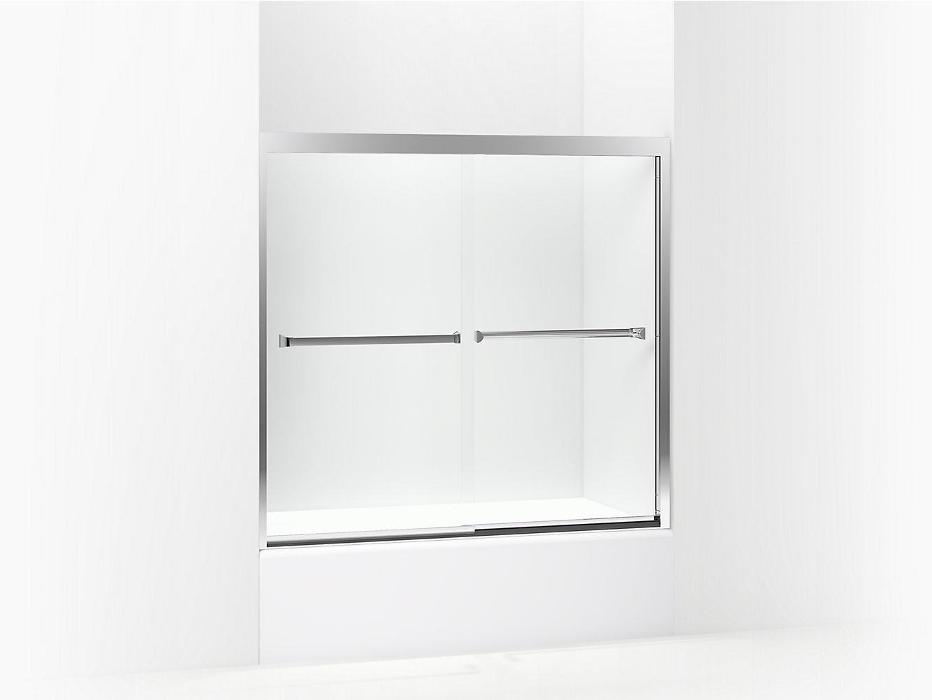 Meritor Frameless Sliding Bath Door 54-3/8\