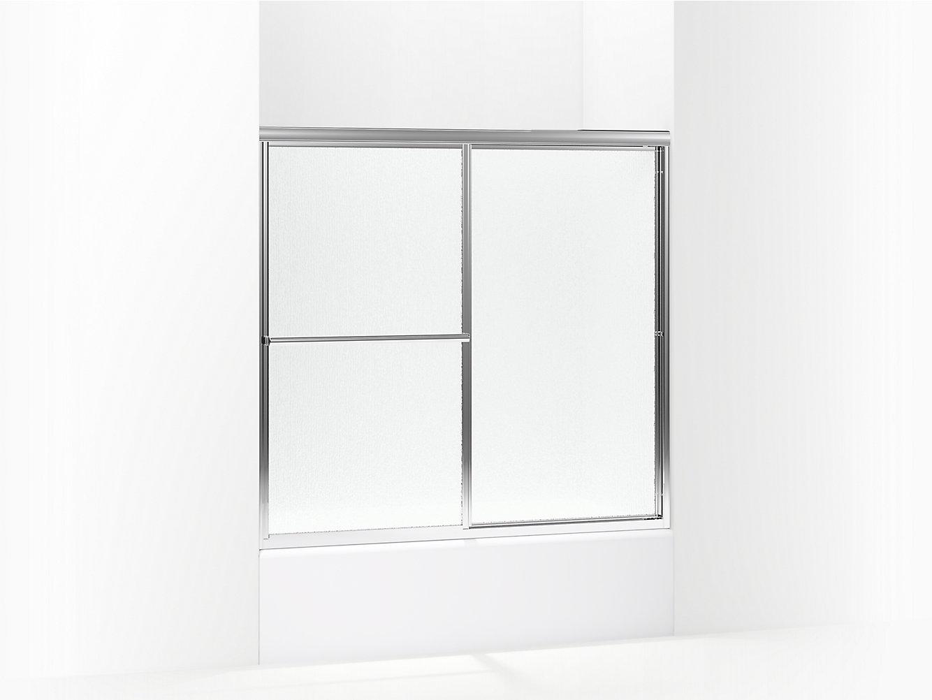 Deluxe Framed Sliding Bath Door 54 3859 38 W X 56 14 H 5906